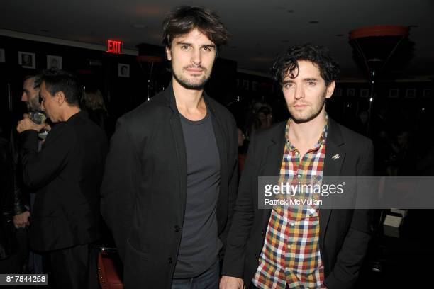 """Kane Manera and Vincent Fantauzzo attend THE CINEMA SOCIETY & OC CONCEPT host the after party for """"RED"""" at The Lambs Club at the Chatwal Hotel on..."""
