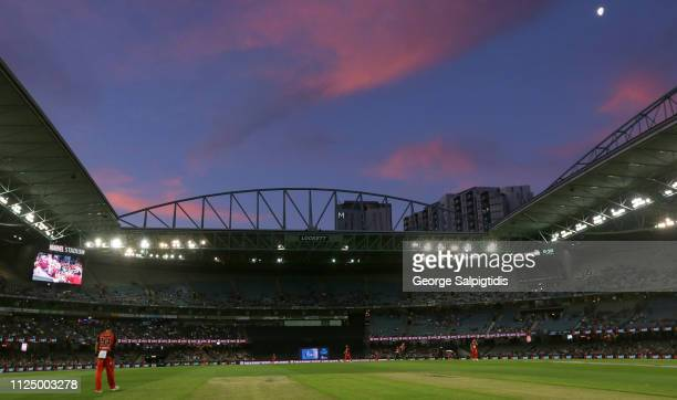 Kane Richardson of the Melbourne Renegade fields in the out field during the Big Bash League semi final between the Melbourne Renegades v Sydney...