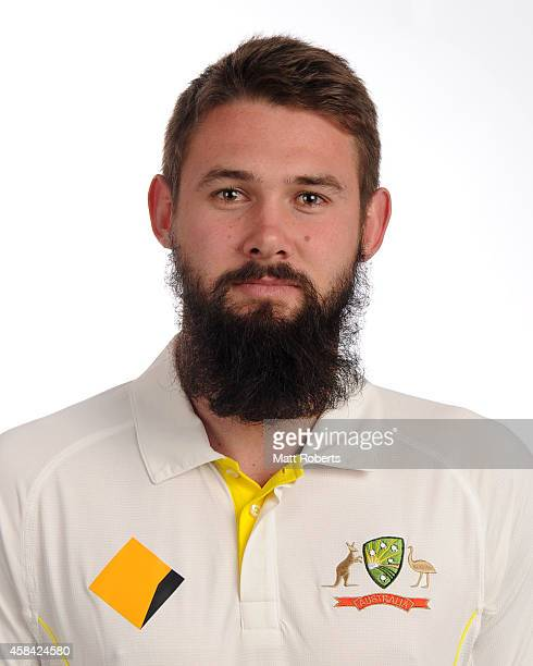 Kane Richardson poses during the Australia Test team headshots session at the Mantra on Southbank on August 15 2014 in Brisbane Australia