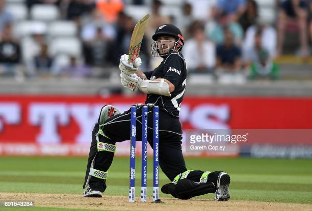 Kane Williamson of New Zealand bats during the ICC Champions Trophy match between Australia and New Zealand at Edgbaston on June 2 2017 in Birmingham...