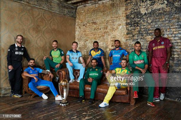 Kane Williamson of New Zealand, Virat Kohli of India, Faf Du Plessis of South Africa, Eoin Morgan of England, Sarfarez Ahmed of Pakistan, Dimuth...