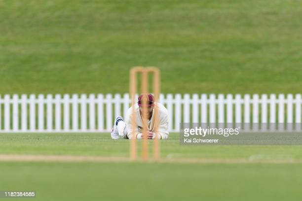Kane Williamson of Northern Districts fields the ball during the Plunket Shield match between Canterbury and Northern Districts at Hagley Oval on...