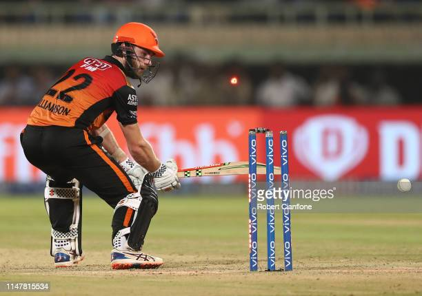 Kane Williamson of the Sunrisers Hyderabad is bowled by Ishant Sharma of the Delhi Capitals during the Indian Premier League IPL Eliminator Final...