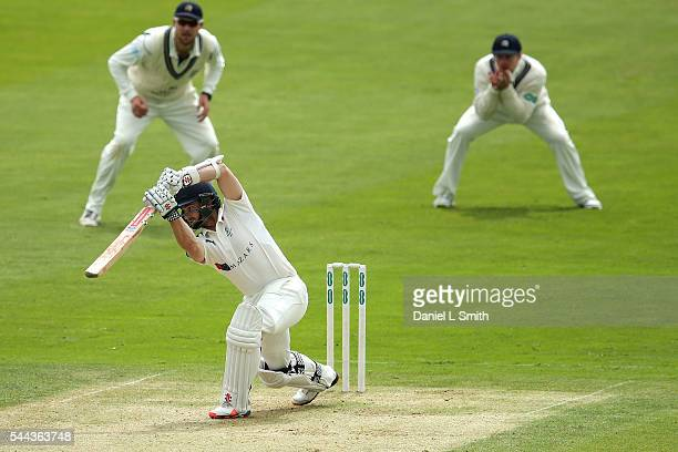 Kane Williamson of Yorkshire bats during day one of the Specsavers County Championship division one match between Yorkshire and Middlesex at North...