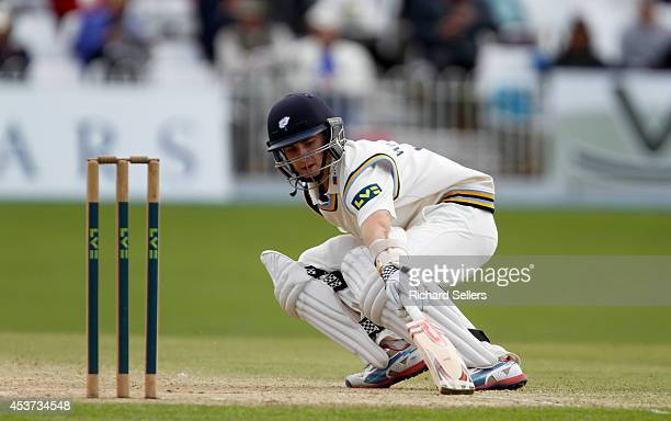 Kane Williamson of Yorkshire in action during day three of the LV County Championship division One match between Yorkshire and Sussex on August 17...