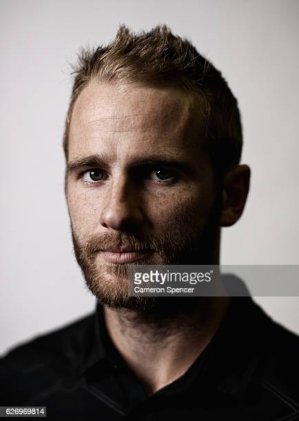 Kane Williamson poses during a New Zealand portrait session at the Intercontinental Hotel on December 1 2016 in Sydney Australia