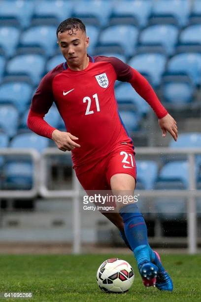 Kane Wilson of England U17 during the U17 Algarve Cup Tournament Match between England U17 and Germany U17 on February 12 2017 in Albufeira Portugal