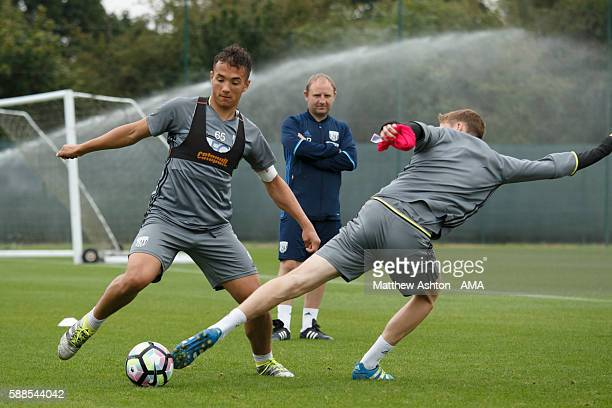 Kane Wilson of West Bromwich Albion during a training session at West Bromwich Albion Training Ground on August 11 2016 in Walsall England