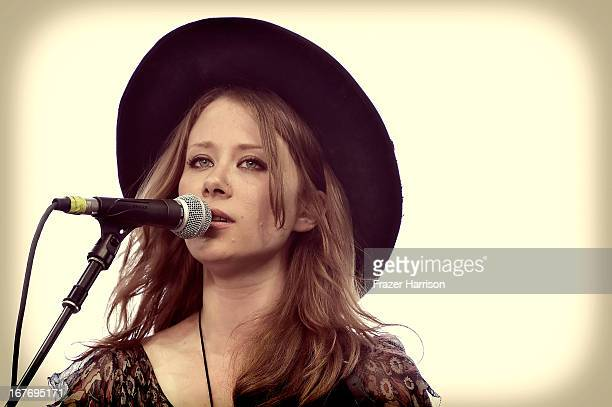 Kanene Doheney Pipkin of The Lone Bellow performs onstage during 2013 Stagecoach: California's Country Music Festival held at The Empire Polo Club on...