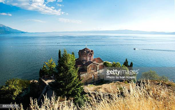 kaneo-ohird - lake ohrid stock photos and pictures