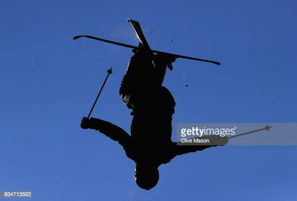 Kang Chen of China in action during the Mens Moguls training at the FIS Freestyle Ski World Cup 2016/17 Moguls at Bokwang Snow Park on February 11...