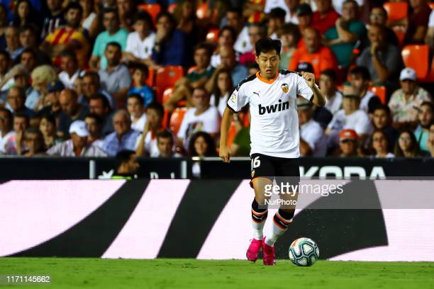 Kang In Lee of Valencia CF during spanish La Liga match between Valencia CF and Getafe at Mestalla Stadium on September 25 2019