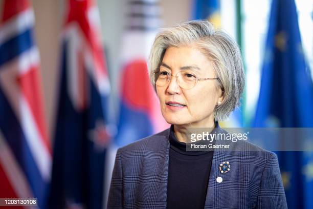 Kang Kyungwha Foreign Minister of South Korea is pictured during the Stockholm Ministerial Meeting on Nuclear Disarmament and the NonProliferation...