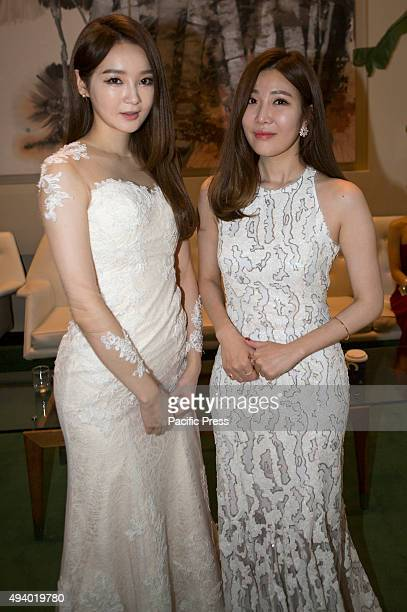 Kang Minkyung and Lee Haeri of pop duo Davichi visit the UN Headquarters for the 70th anniversary Concert in New York City