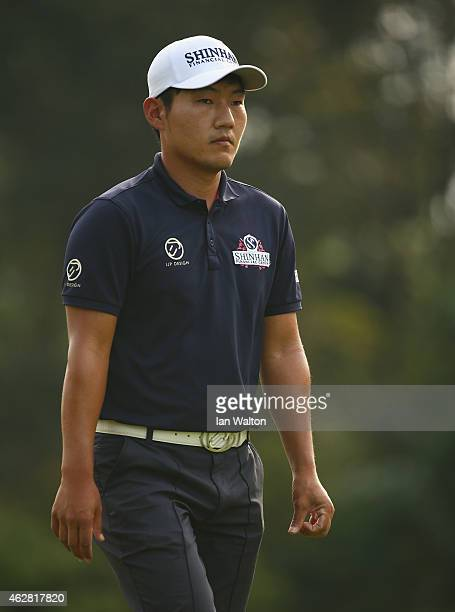 Kang Sunghoon of Korea during the second round of the 2015 Maybank Malaysian Open at Kuala Lumpur Golf Country Club on February 6 2015 in Kuala...