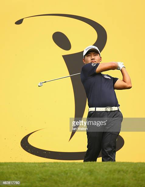 Kang Sunghoon of Korea in action during the second round of the 2015 Maybank Malaysian Open at Kuala Lumpur Golf Country Club on February 6 2015 in...