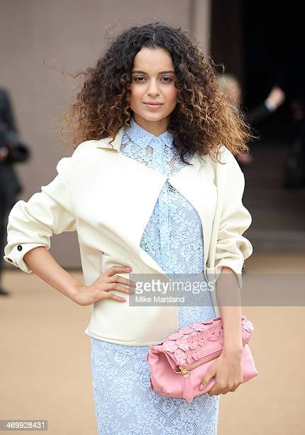 Kangana Ranaut attends the Burberry Prorsum show at London Fashion Week AW14 at on February 17, 2014 in London, England.