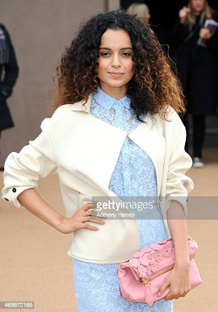 Kangana Ranaut attends the Burberry Prorsum show at London Fashion Week AW14 at Kensington Gardens on February 17, 2014 in London, England.