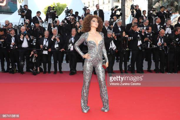 "Kangana Ranaut attends the screening of ""Ash Is The Purest White "" during the 71st annual Cannes Film Festival at Palais des Festivals on May 11,..."