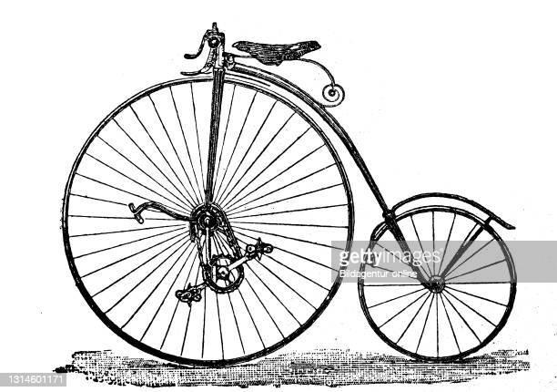 Kangaroo wheel around 1884, England / Känguruh Rad um 1884, England, Historisch, historical, digital improved reproduction of an original from the...