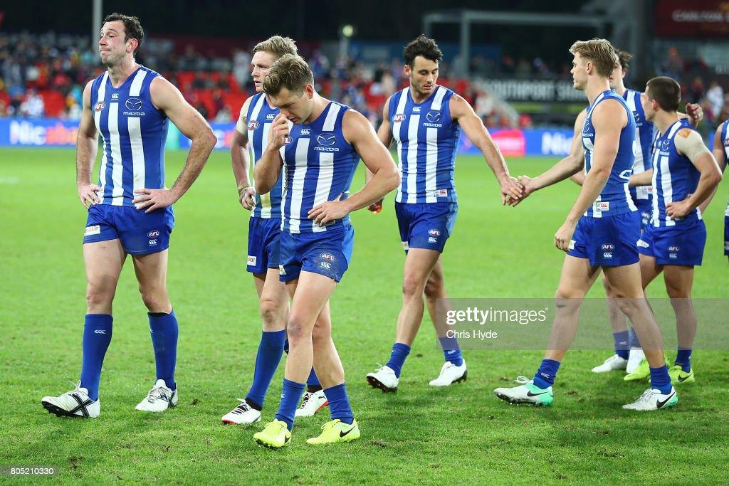 AFL Rd 15 - Gold Coast v North Melbourne : News Photo