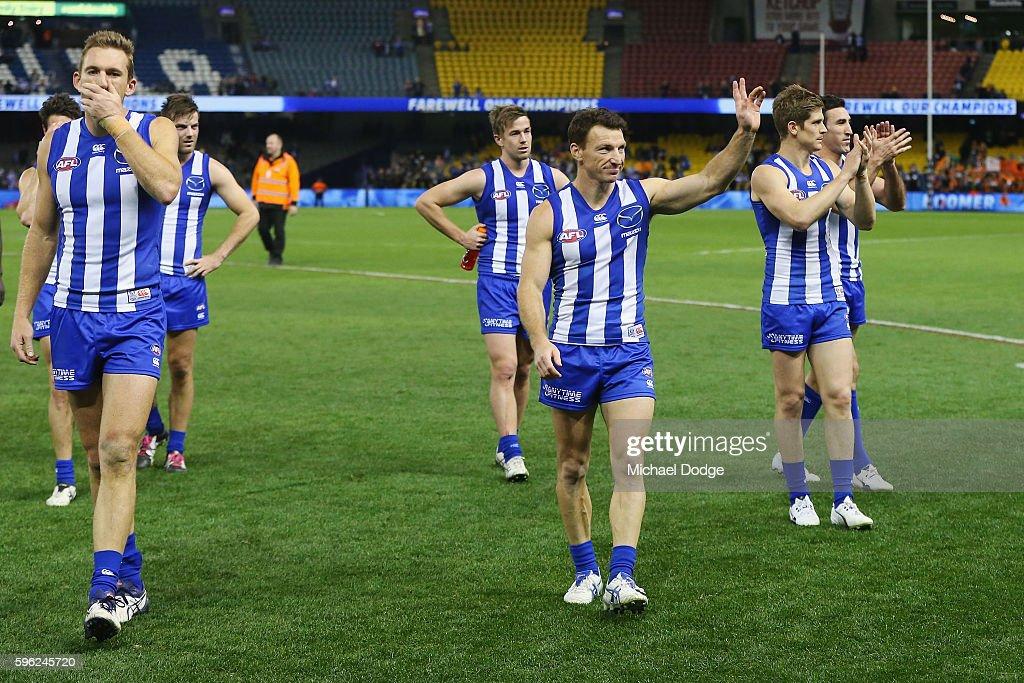 AFL Rd 23 - North Melbourne v Greater Western Sydney