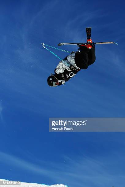 KangBok Lee of Korea competes during the Winter Games NZ FIS Freestyle Skiing World Cup Halfpipe Finals at Cardrona Alpine Resort on September 1 2017...