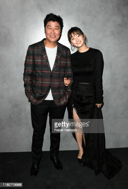 Kangho Song and Park SoDam attend the 2019 Hammer Museum Gala In The Garden at Hammer Museum on October 12 2019 in Los Angeles California