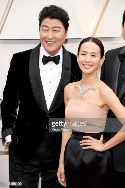 Kangho Song and Yeojeong Jo attend the 92nd Annual Academy Awards at Hollywood and Highland on February 09 2020 in Hollywood California