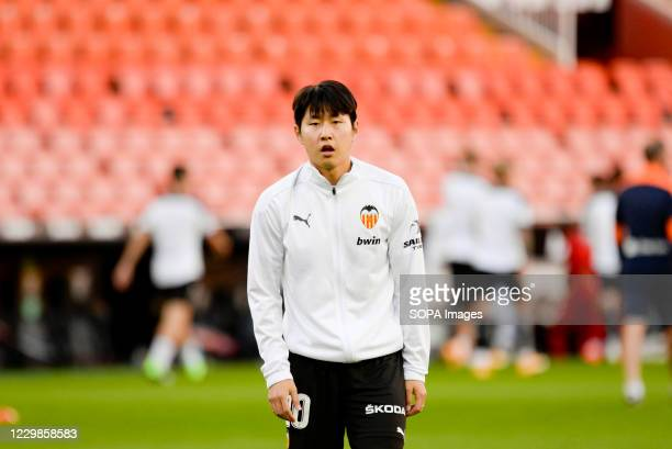 Kang-In Lee of Valencia during the Spanish La Liga football match between Valencia and Atletico de Madrid at Mestalla Stadium. Final score; Valencia...