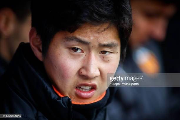 Kangin Lee of Valencia looks on during the Spanish League La Liga football match played between Getafe CF and Valencian CF at Coliseum Alfonso Perez...