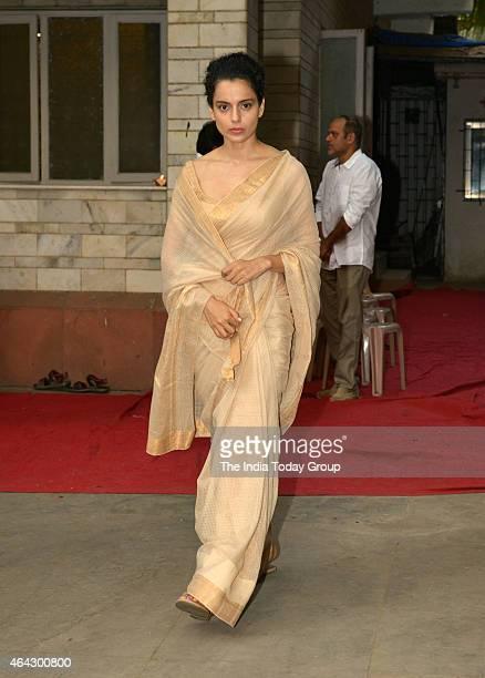 Kangna Ranaut at Madhur Bhandarkar's mother condolence meeting in Mumbai