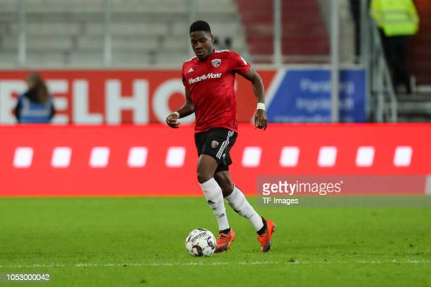 Kangni Frederic Ananou of FC Ingolstadt controls the ball during the Second Bundesliga match between FC Ingolstadt 04 and 1 FC Union Berlin at Audi...