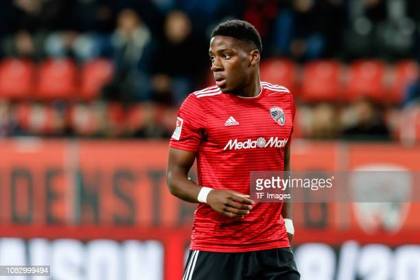 Kangni Frederic Ananou of FC Ingolstadt looks on during the Second Bundesliga match between FC Ingolstadt 04 and 1 FC Union Berlin at Audi Sportpark...