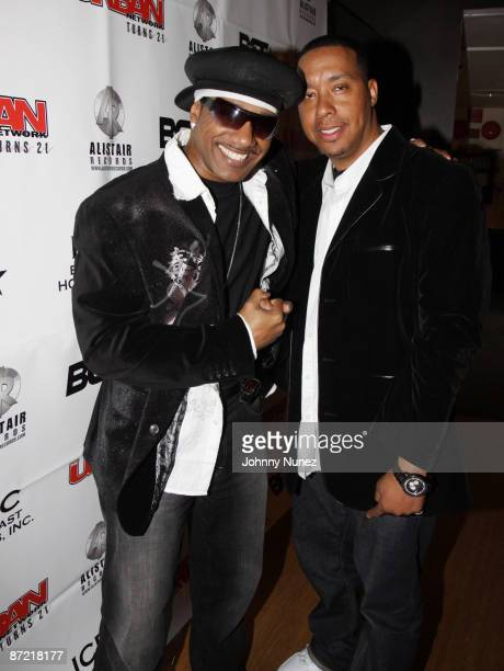 Kangol Kid and DJ Scratchatore attend a VIP reception honoring Stephen Hill and Charles Warfield at the Canal Room on May 13 2009 in New York City