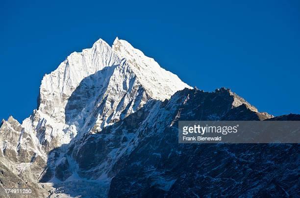 Kangtega Mountain above Namche Bazar the base for trekking and mountaineering in Solo Khumbu region
