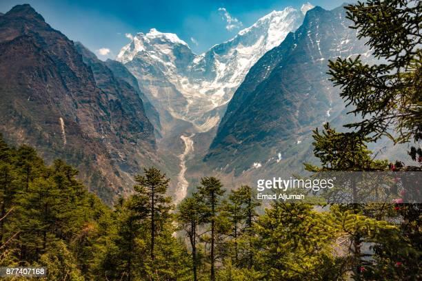 Kangtega mountain, Everest region, Nepal - April 27, 2016