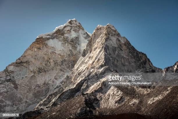 Kangtega mountain peak from Tengboche village