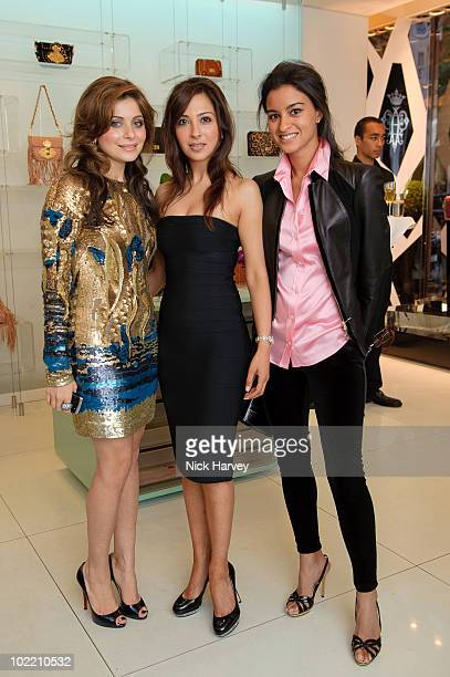 Kanika Chandok and Preya Sharma attend the Emilio Pucci cocktail party on June 18 2010 in London England