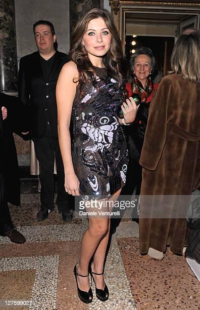 Kanika Chandok attends the Emilio Pucci fashion show as part of Milan Fashion Week Womenswear Autumn/Winter 2011 on February 26 2011 in Milan Italy