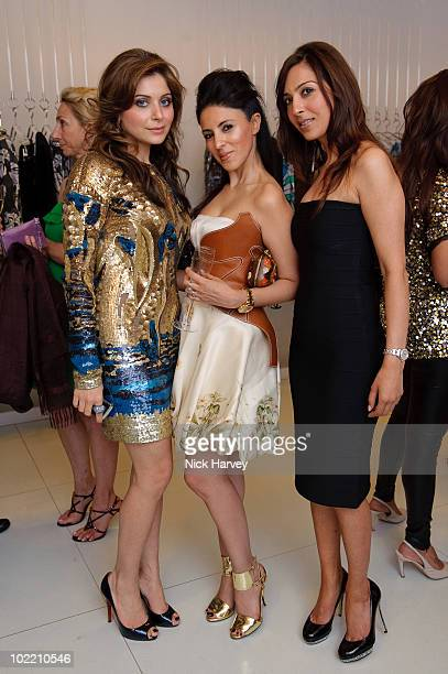 Kanika Chandok Shailly Chandor and Preya Sharma attend the Emilio Pucci cocktail party on June 18 2010 in London England