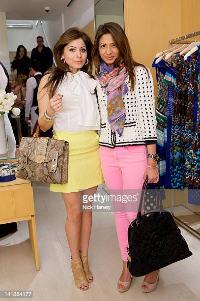 Kanika Kapoor and Ashumi Sanghavi attend Angela Missoni and Kim Hersov Host Lunch at Missoni store on March 15 2012 in London England