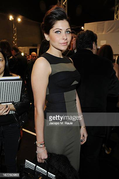 Kanika Kapoor attends the Fendi fashion show as part of Milan Fashion Week Womenswear Fall/Winter 2013/14 on February 21 2013 in Milan Italy