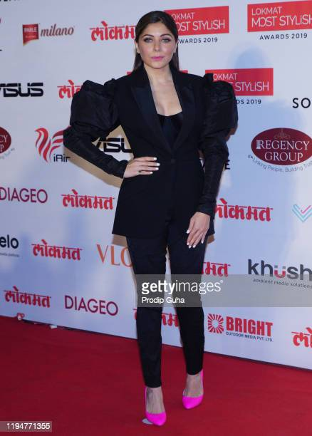Kanika Kapoor attends the Lokmat Most Styylis Awards 2019 on December 18 2019 in Mumbai India