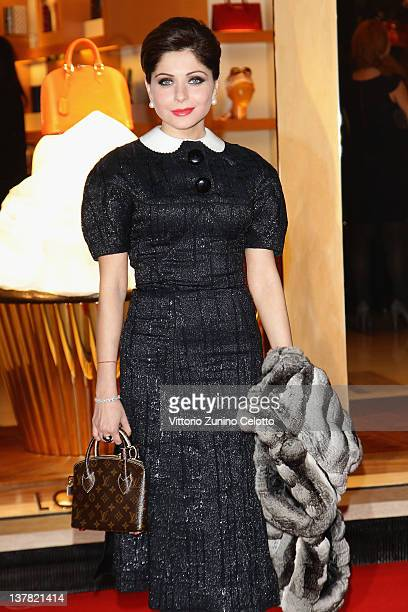 Kanika Kapoor attends the Maison Louis Vuitton Roma Etoile Cocktail red carpet on January 27 2012 in Rome Italy