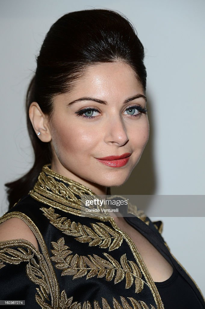 Kanika Kapoor attends the Versace fashion show during Milan Fashion Week Womenswear Fall/Winter 2013/14 on February 22, 2013 in Milan, Italy.