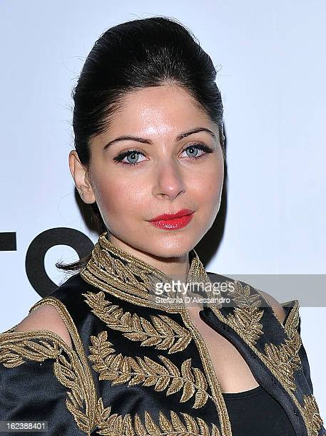 Kanika Kapoor attends The Vogue Talent's Corner held at Palazzo Morando during Milan Fashion Week Womenswear Fall/Winter 2013/14 on February 22 2013...