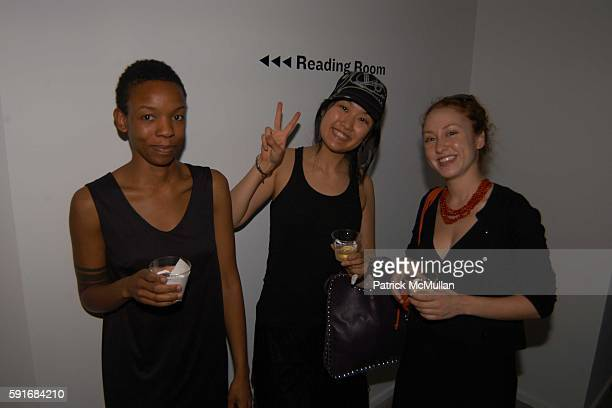 Kanitra Fletcher Anri Yasuda and Calia Andrei attend New Museum Hosts Opening Reception for Aernout Mik's Refraction Rhizome Artbase 101 at New...