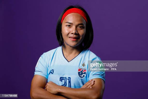 Kanjana SungNgoen of Thailand poses for a portrait during the official FIFA Women's World Cup 2019 portrait session at Grand Hotel Continental on...