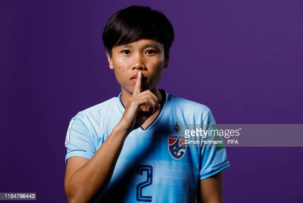 Kanjanaporn Saenkhun of Thailand poses for a portrait during the official FIFA Women's World Cup 2019 portrait session at Grand Hotel Continental on...